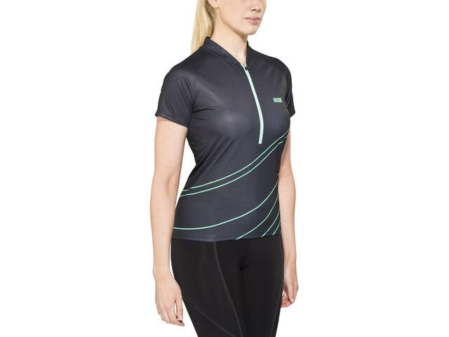 IXS Trail 6.2 Maillot de cyclisme Femme, black/turquoise